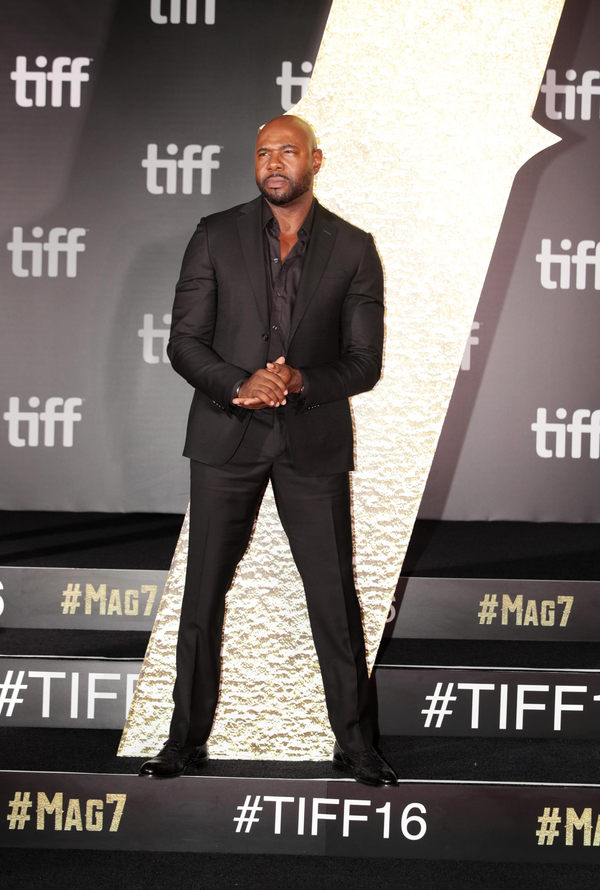 """Director Antoine Fuqua seen at MGM and Columbia Pictures' world premiere and opening night screening of """"The Magnificent Seven"""" at the 2016 Toronto International Film Festival on Thursday, Sep. 8, 2016, in Toronto, CAN."""